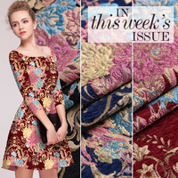 France icing on the cake big autumn jacquard chenille velvet fabric cloth cushions Free shipping high grade windbreaker