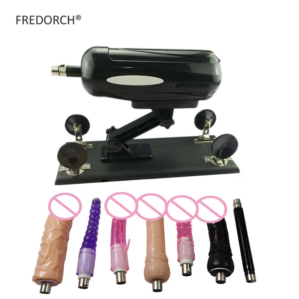 FREDORCH F2 Adult Toys Updated Stimulate Vibrator Sex Machine Gun with 7 Accessories for Female Vag