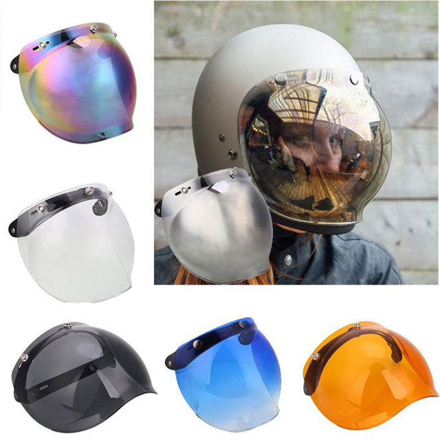 Motorcycle Motorbike Flip Down Retro Helmet Visor Bubble Shield Mirror Lens  Base amber dark tawny-in Helmets from Automobiles   Motorcycles on ... f95ad362905