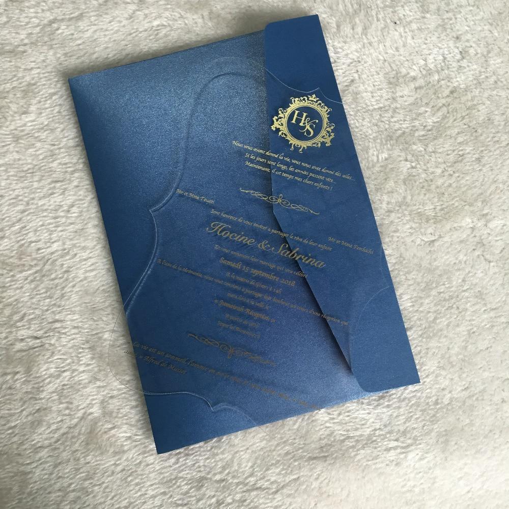 Us 65 0 50pcs Elegant Wedding Favor New Design Laser Cut Acrylic Invitation Cards Fancy With Envelop In Invitations