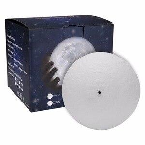 Image 5 - 3D Mond Lampe Touch Sensor/Fernbedienung Neuheit LED Nacht Licht Luminaria Lua 3D Mond Licht Für Baby Kinder schlafzimmer Wohnkultur
