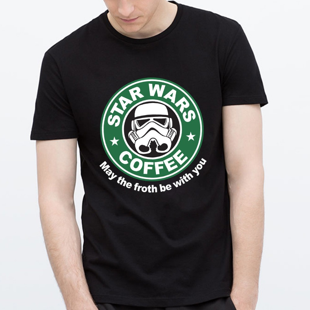 Shirt design new - Aliexpress Com Buy New Star Wars T Shirt Darth Vader T Shirts Men Funny Design Pattern Mens Shirt Cotton Star Wars Coffee Tees Shirt Top Euro Size From