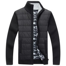 2019 New Men #8217 s Zipper Sweater Jacket Outerwear Thick Sweater Coat Male Autumn Winter Down Sweatercoat Black Blue Gray M-3XL cheap Casual Cotton Spandex Wool Computer Knitted Turn-down Collar Full Thick (Winter) Solid Standard Wool HZ014 Regular Zippers