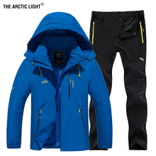THE ARCTIC LIGHT Man Autumn Waterproof Fishing Jacket Set Pants Quick Dry Climb Hiking Trekking Camping Outdoor Clothing 5XL
