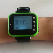 CE Vibrating watch pager system 1 wrist receiver with 5 bell buzzer for restaurant beach cafe use