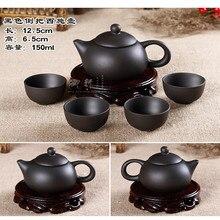 Förderung! (1 Teekanne und 4 Tassen) 24 arten Yixing Handgemalte Zhu Schlamm Teekanne West Teekanne Filter Keramik Tee-Set Blumentöpfe