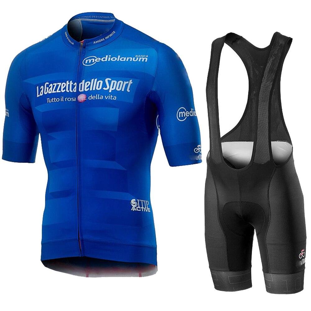 Tour de italia itália 2019 men ciclismo verão manga curta conjunto jérsei bicicleta bib shorts respirável mtb corrida maillot Kits ciclismo     - title=