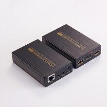 Новый HDMI удлинитель 1080 P HDMI сигнала до 60 м/196ft по одной CAT6 сетевой кабель HDMI Extender w /петли из и ИК-с EDID