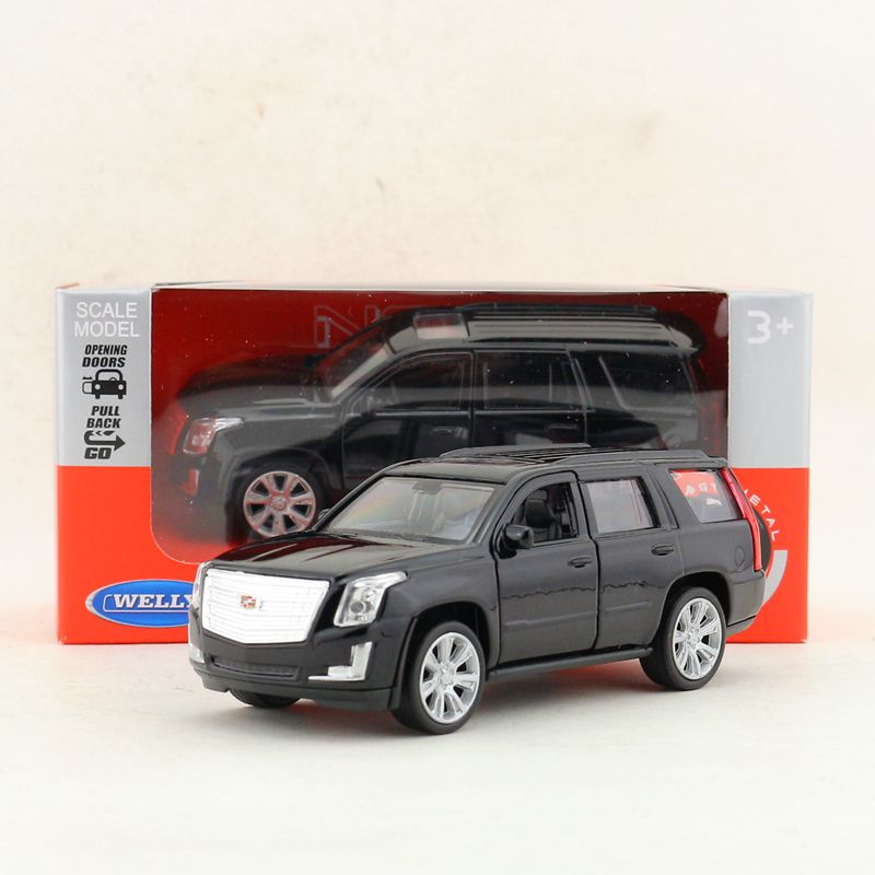 1:36 Alloy Pull Back Car Models,high Simulation Cadillac Escalade SUV,2 Open The Doors,metal Diecasts Toy Vehicles,free Shipping