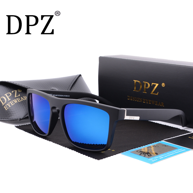 DPZ Polarized Sport Sunglasses Men Brand Designer 2018 Women Sunglasses aviation Male Female UV400 original package