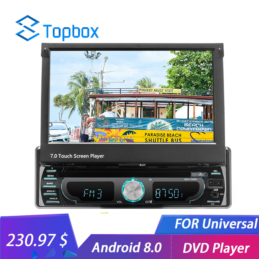 Topbox 1 din Android WIFI Car Radio 7 GPS Navigation Mirror Link Bluetooth MP5 HD Multimedia
