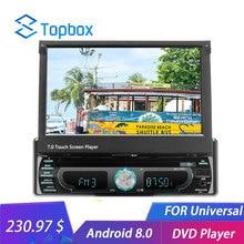 Topbox 1 Autoradio Android WIFI 7 «GPS Navigation miroir lien Bluetooth MP5 HD lecteur multimédia 1 + 16 GB DVR DVD FM Autoradio