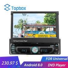 Topbox 1 din Android WI-FI автомобиля Радио 7 «зеркало с Навигатором GPS связь Bluetooth MP5 мультимедийный плеер HD 1 + 16 GB DVR DVD fm Авторадио