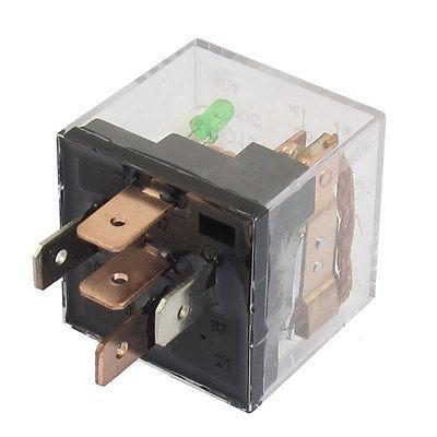цена на DC 12V 80A 1NO 1NC SPDT 5 Pins Green Indicator Light Automotive Truck Car Relay RTT7105 JD1914