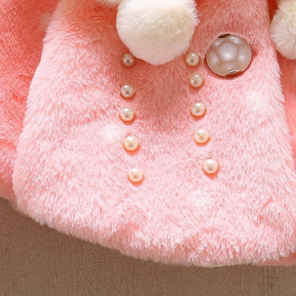 Детская одежда осенне-зимнее пальто с искусственным мехом для маленьких мальчиков куртка-плащ плотная теплая одежда Одежда для девочек, верхняя одежда для девочек,# P30