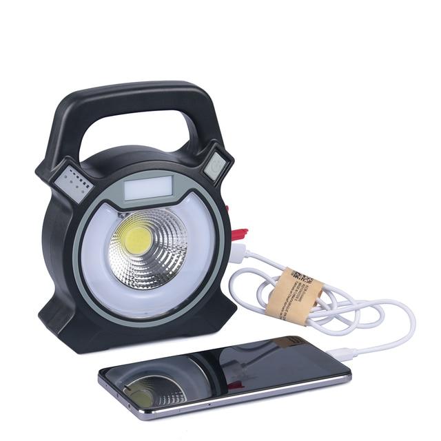 collectie cob led verlichting oplaadbare 18650 usb handed lamp zaklamp zaklamp krachtige led zoeklicht buiten camping