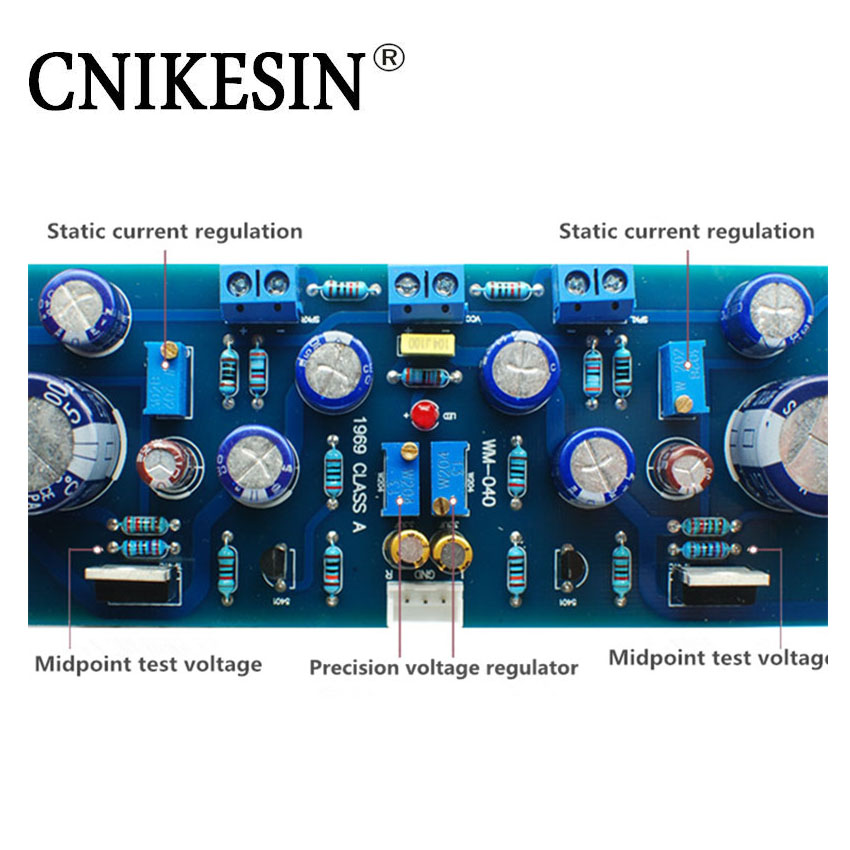 CNIKESIN Diy kits HIFI Enthusiast 1969 Power Amplifier Kit Power Amplifier Board Enthusiast Electronic Suite With TIP41C HASL