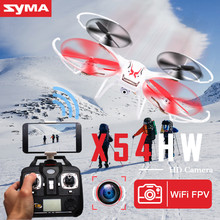 Original SYMA X54HW RC Helicopter 2.4G 4CH 6-Axis Remote Control Quadcopter Hover 3D Flip Drone with HD Camera Model Gift Toy
