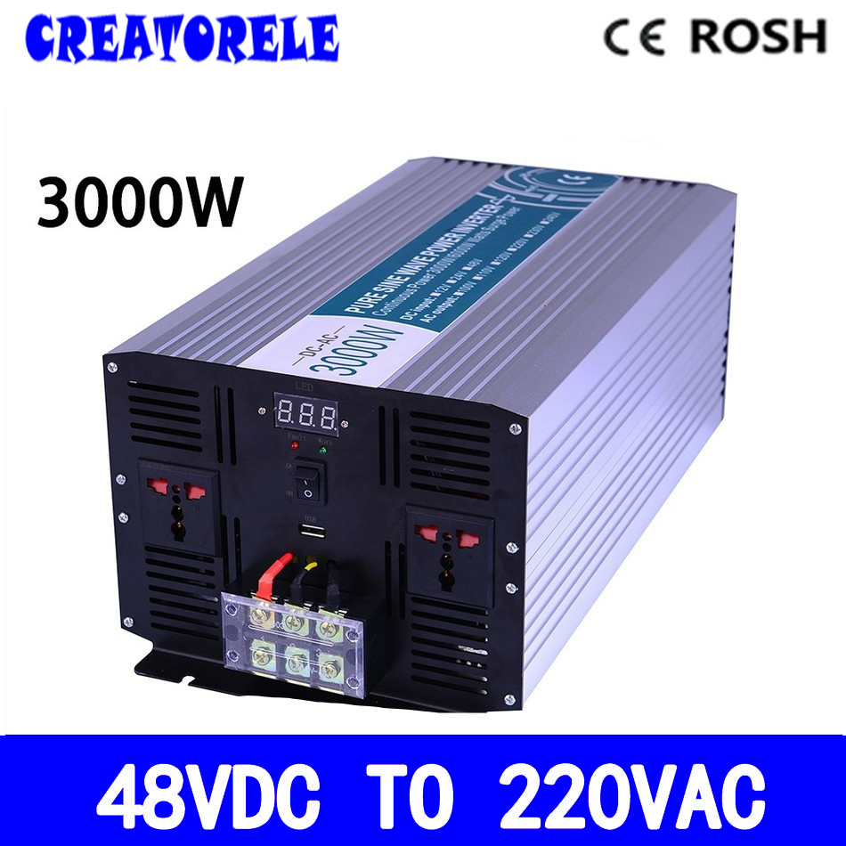 P3000-482 Off-grid dc to ac pure sine wave 48v 220v solar inverter 3000w voltage converter inversor off grid inverter pure sine wave 3000 watt 48v 220v epsolar energy saving ac to dc converter with extensive protections