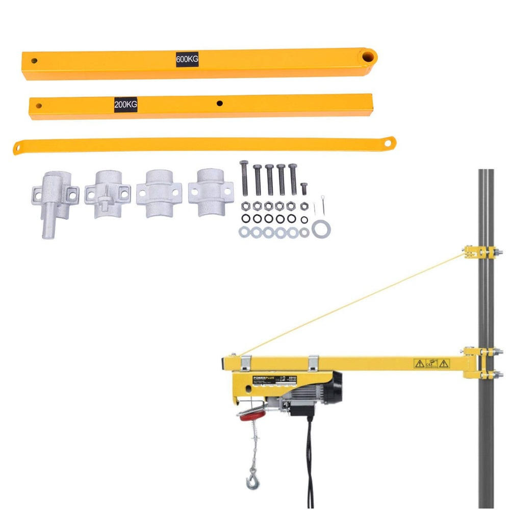Electric Winch Hoist Crane Garage Scaffolding Support Arm-600kg Load Capacity
