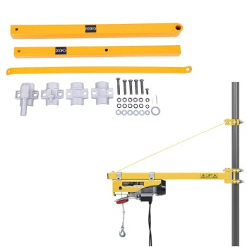 Quality Pivoting Arm 75cm to 110cm Extending Electric Hoist Swing Support Arm Hoist Support Arm Bracket 200--600KG