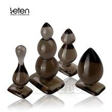 Leten bolas anais de silicone, tomada anal, bunda, brinquedo sexual anal, produtos para adultos para mulheres e homens, sem vibração
