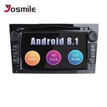 Josmile Android 8,1 2Din автомобиля радио мультимедиа для Opel Vectra C Zafira B Vivaro Astra H GJ Corsa C D MerivaAntara gps навигации