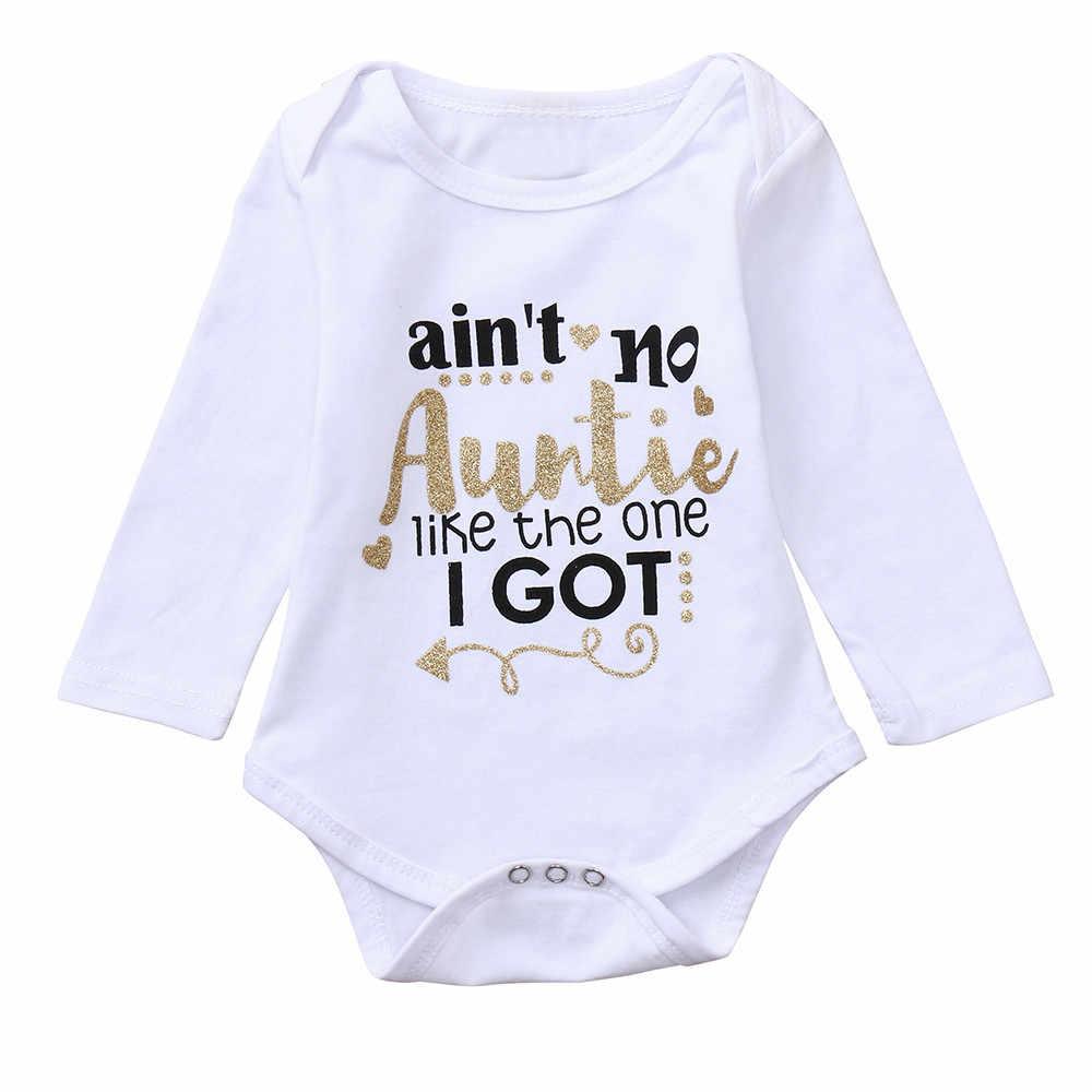 MUQGEW Infantil Meninos Das Meninas Do Bebê Manga Longa Carta de Impressão Roupa Jumpsuit Romper nena # KM804 Outfitropa de bebe