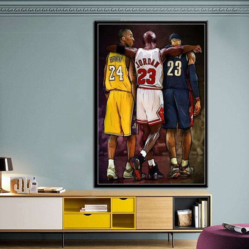 Kobe No.24 Super Basketball MVP Canvas Silk Poster 13x18 24x32/'/'