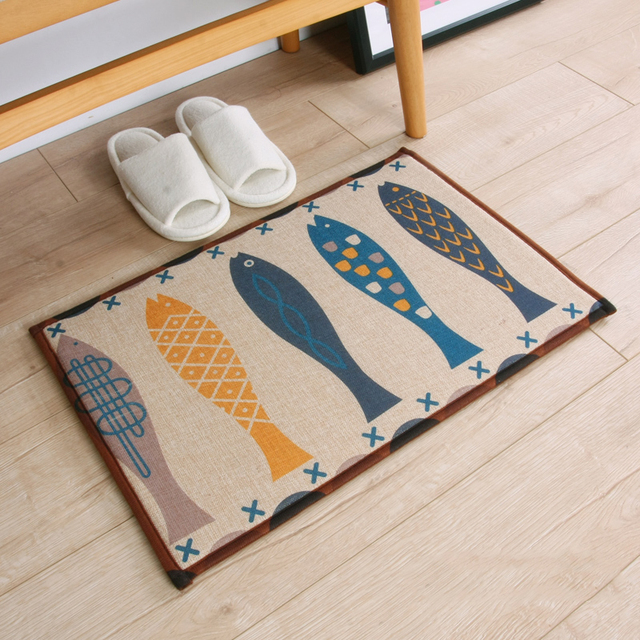 Infant Shining Door Mats Kitchen Carpet Bathroom Rugs Cartoon Anti Skid Absorb Water Mat Machine Washable