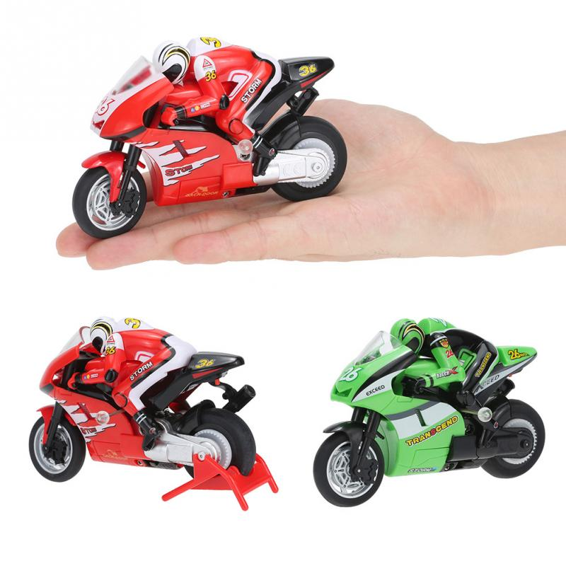 RC Motorcycle Toys 8012 1/20 2.4G Remote Controlled mini RC Motorcycle Super Cool Toy Stunt Car For Children Gift