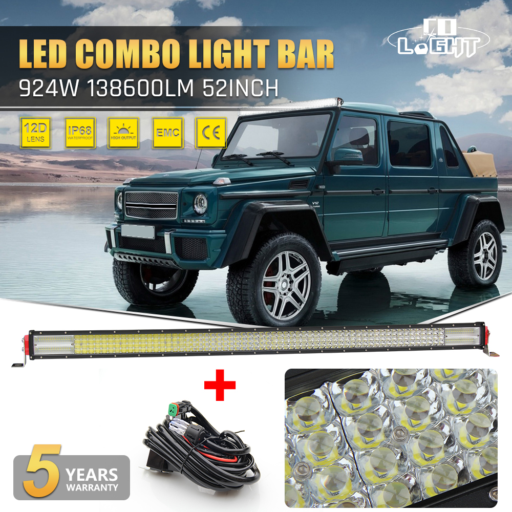 CO LIGHT 12D 52 Inch Offroad LED Light Bar 924W Combo Auto Bar Light For  Jeep