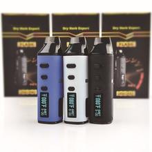 цена на LvSmoke Flash Dry Herb & Wax Vaporizer 2200mAh Temp Control Battery Mod with Ceramic Heat-Chamber Herbal Portable Vape Pen Kit