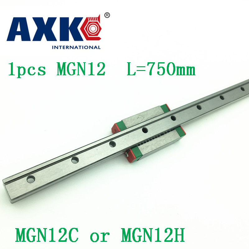 12mm Linear Guide Mgn12 L= 750mm Linear Rail Way + Mgn12c Or Mgn12h Long Linear Carriage For Cnc X Y Z Axis 12mm linear guide mgn12 l 250mm linear rail way mgn12h long linear carriage for cnc x y z axis