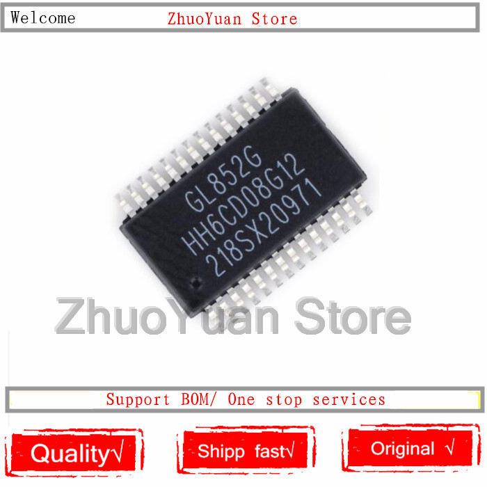 1PCS/lot New Original GL852 GL852G SSOP-28 IC Chip USB Chip