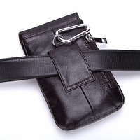 Luxury Genuine Leather Vertical Waist Bag case For iPhone 7 Plus 6s 8 9 x 5 Belt Clip Pouch smartphone Holster Cover capa fundas