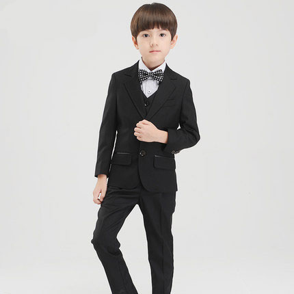 (Jackets+Vest+Pants+BowTie+Shirt) Boy Suits Flower girl Slim Fit Tuxedo Brand Fashion Bridegroon Dress Wedding Black Suit Blazer lielang genuine leather men wallet crazy horse short coin purse small vintage wallets brand high quality cow leather male wallet
