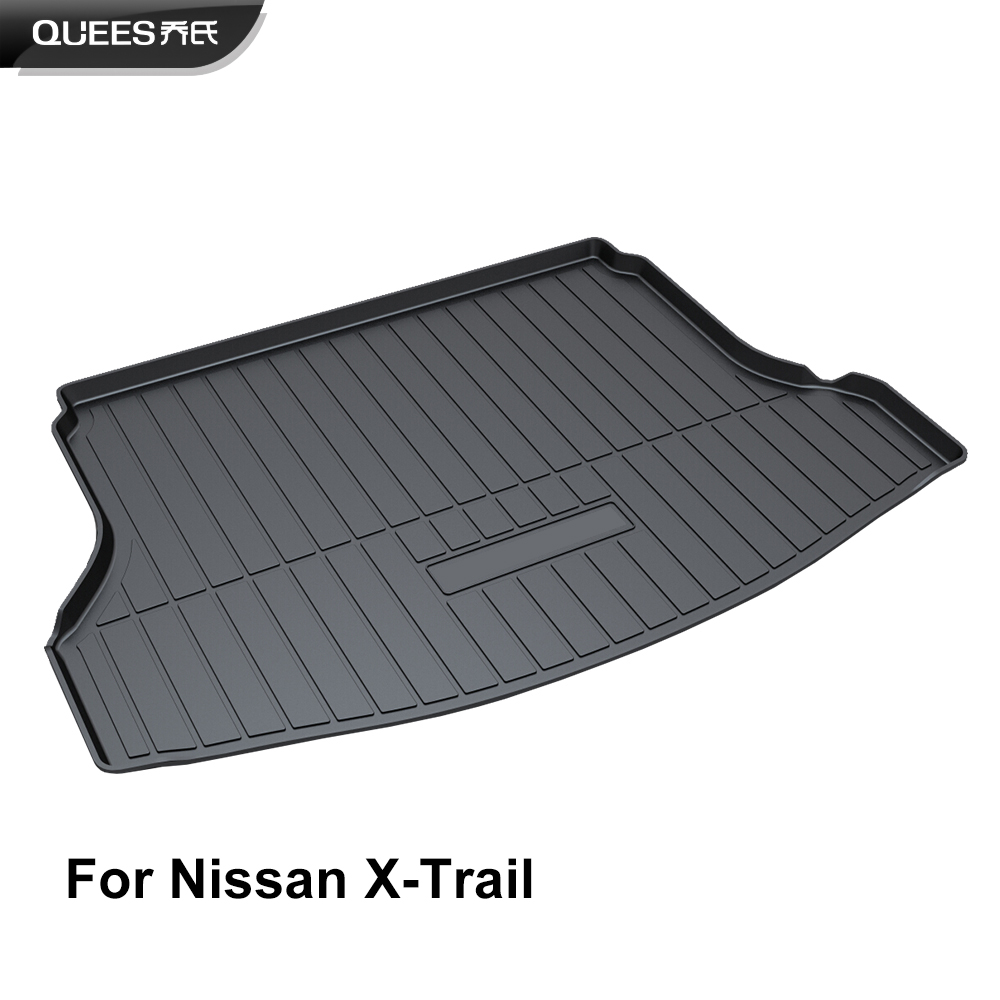 QUEES Custom Fit Cargo Liner Boot Tray Trunk Floor Mat for Nissan X Trail Xtrail T32