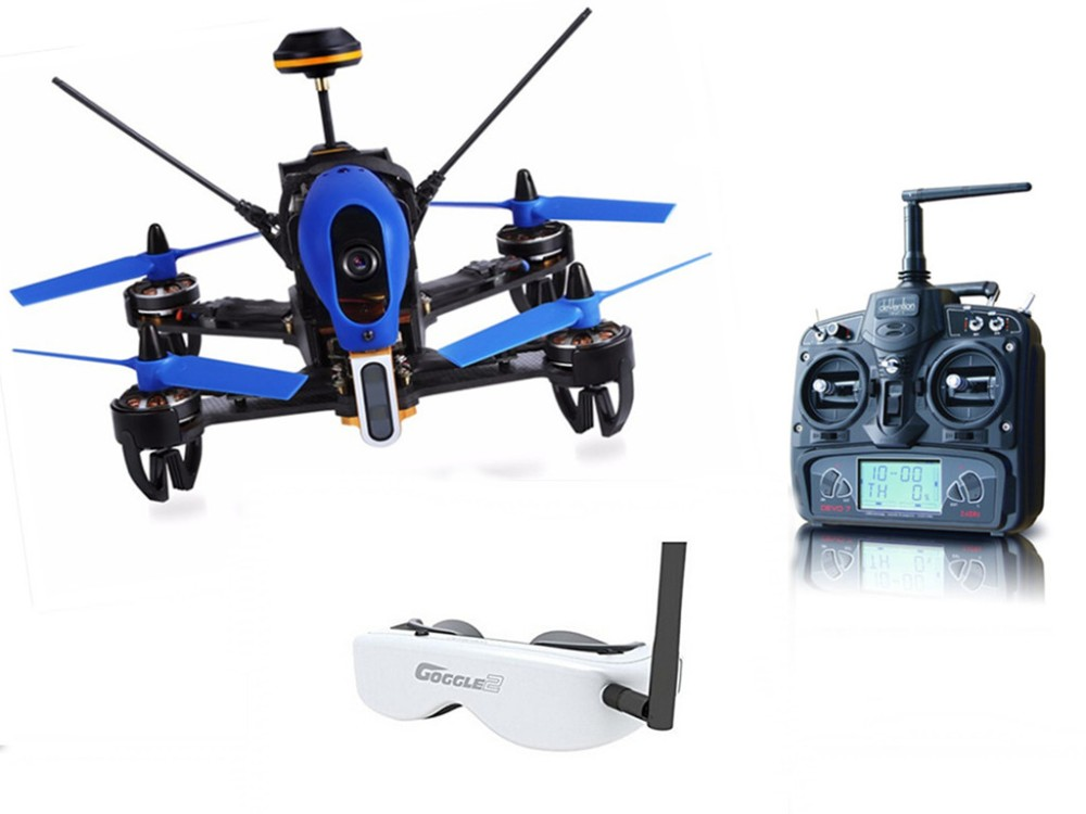 Walkera F210 3D Edition 2.4GHz FPV Drone F3 3D Racing Drone RTF Devo7 RC Quadcopter with Goggle2 Glasses F18855 high quality original walkera f210 5 8g fpv 700tvl hd camera f3 flight controller 7ch racing drone with devo 7 rtf