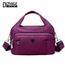DIZHIGE Brand Fashion Waterproof Nylon Women Handbag High Quality Crossbody Bags For Women Solid Zipper Messenger Bag Female