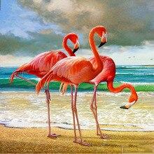 Full Square/Round Drill 5D DIY Diamond Painting Animal flamingos 3D Embroidery Cross Stitch  Decor Gift diapai 100% full square round drill 5d diy diamond painting animal tiger diamond embroidery cross stitch 3d decor a18678