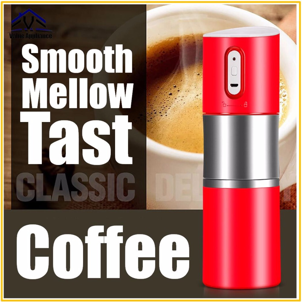 цена Mini Electric Coffee Machine Motor Coffee Maker Portable Compact Manual Espresso Maker Portable Express Coffee Maker