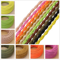 20m 2 X 0.75mm Stranded Cable Electrical Rope Wire Textile Retro Bulb Insulated Wire 10 Colors Electronic Wire LED Cable For DIY
