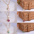 French Les Nereides Bell Orchid Series Gem Necklace Bracelet Bangles Jewelry Sets Party Accessories