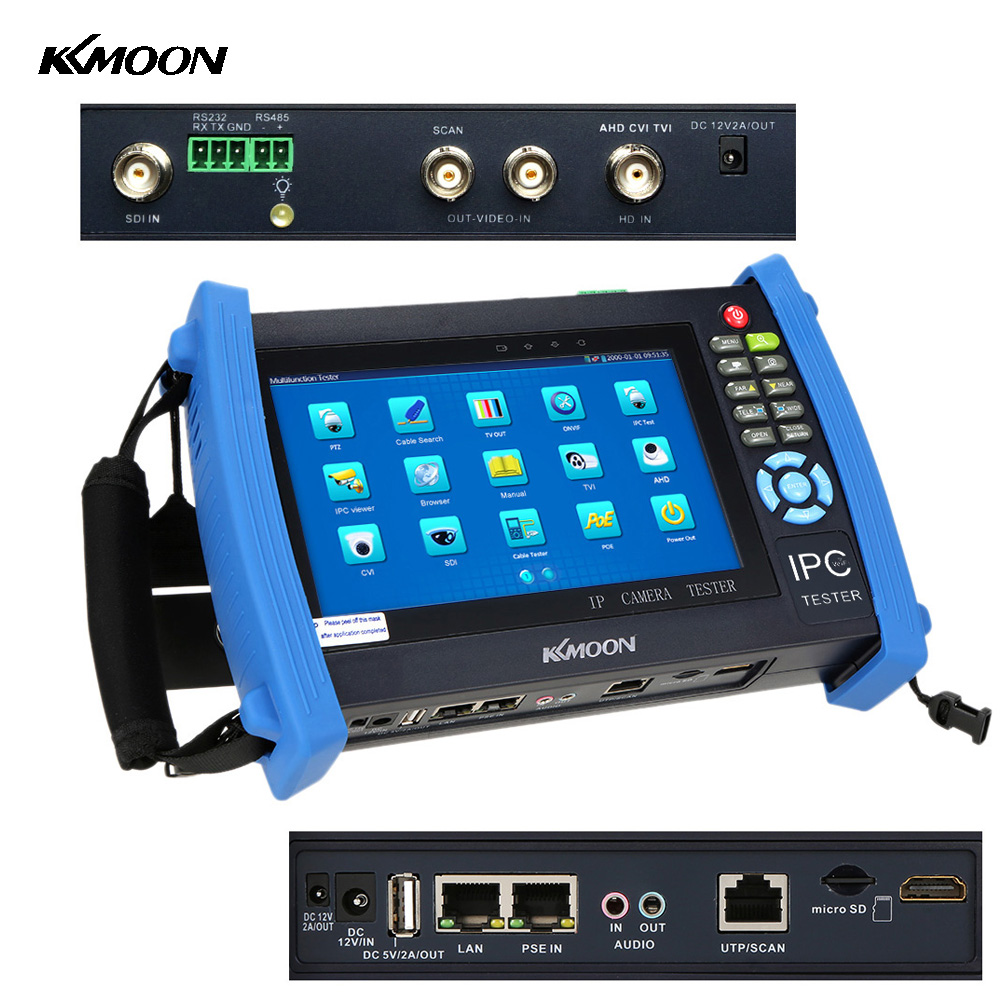 KKmoon IPC 8600ADHS 7inch IP Camera Tester Monitor Touch ...