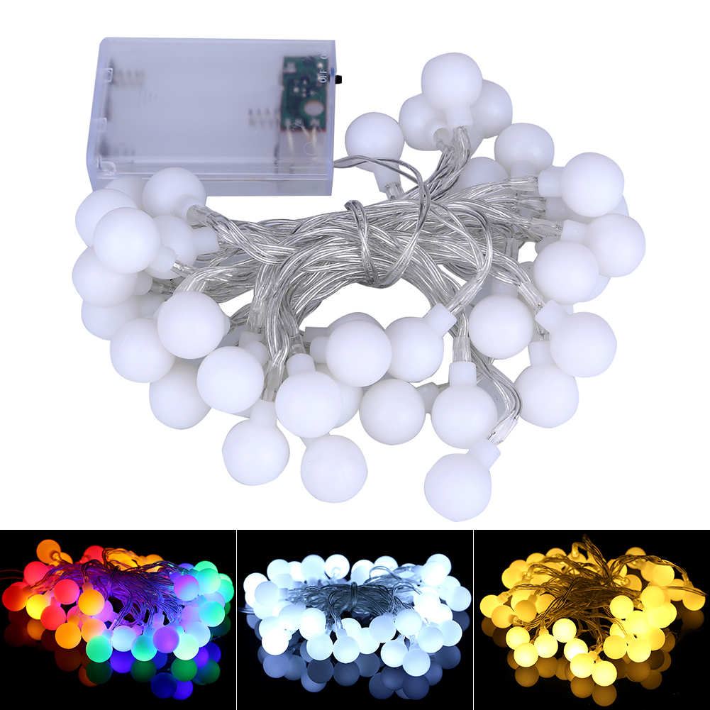 Colorful Ball String Lights 4M 40 LED Home Garden Party Wedding ...