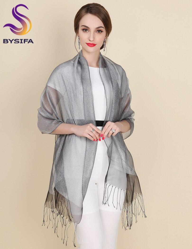 Nueva elegante bufanda de seda de organza mantón de moda 100% seda - Accesorios para la ropa - foto 3