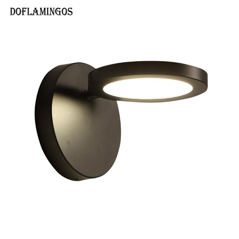 New Modern 9W White/Black Flexible Hose 220V LED Wall Lamp Variable angle Light Lamp Bedside Bathroom Painting Wall Lighting brian azzarello wonder woman volume 1 blood
