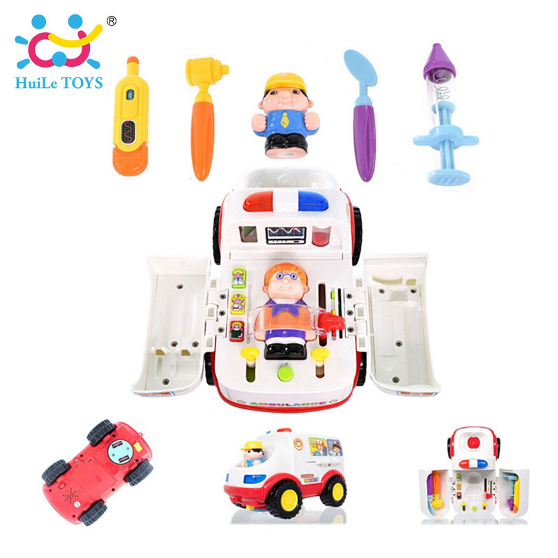2-in-1-Ambulance-Doctor-Vehicle-Set-Baby-Toys-Pretend-Doctor-Set-and-Medical-Kit-Inside-Bump-and-Go-Toy-Car-with-Lights-Sounds-1