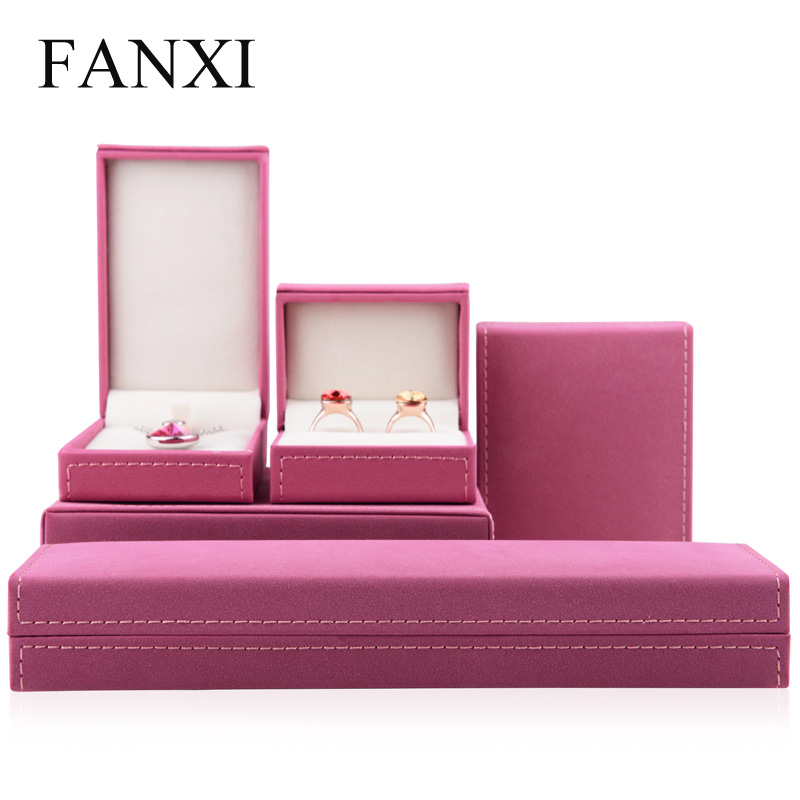 FANXI PU Leather jewelry Gift Box Ring Pendant Bracelet Bangle Holder Exhibitor